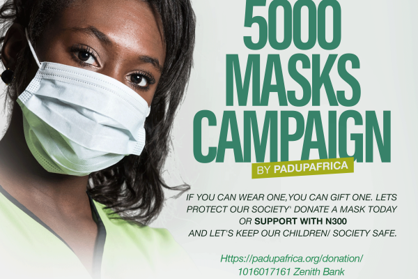 Pad Up Africa Embarks on a 5000 Masks Campaign