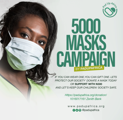 Poster for 5000 masks campaign